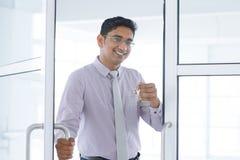 Новый ключ офиса стоковое изображение rf