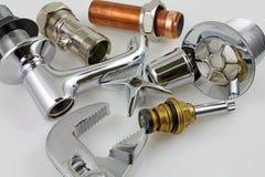 Новый медный pipework готовый для †конструкции « Стоковые Изображения RF