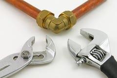 Новый медный pipework обжатия Стоковые Фото