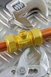 Новый медный pipework Стоковая Фотография RF