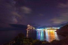 Новый мир на ноче Крым, Украина Стоковая Фотография RF