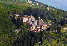 Новый монастырь Afon правоверный, абхазия Стоковые Изображения RF