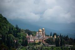 Новый монастырь Athos стоковое изображение