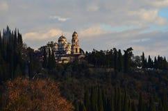 Новый монастырь Athos Стоковое Изображение RF