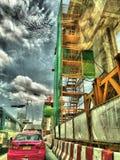 Новый мост Bangkhen построил поезд неба Бангкока стоковые фото