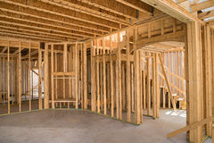 Новый обрамлять жилищного строительства Стоковые Изображения