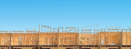 Новый дом жилищного строительства стоковое фото