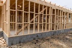 Новый дом жилищного строительства стоковое фото rf
