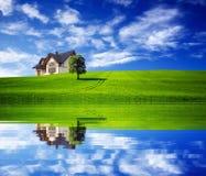 Самомоднейший дом семьи Стоковое Изображение