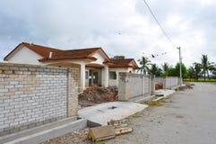 Новый дом под конструкцией Стоковая Фотография