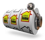 Новый дом формулирует колеса торгового автомата находя совершенный двигать дома Стоковое Изображение RF