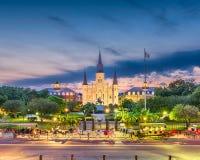 Новый Орлеан, Луизиана, горизонт США стоковая фотография rf