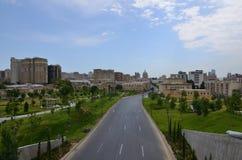 Новый парк любимое место для граждан Баку Азербайджан стоковое изображение rf