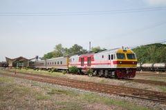 Новый пассажирский автомобиль поезда отсутствие 10 и 11 Имя трассы Uttara Стоковое Изображение RF
