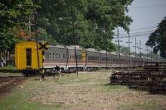 Новый пассажирский автомобиль поезда отсутствие 10 и 11 Имя трассы Uttara Стоковая Фотография RF