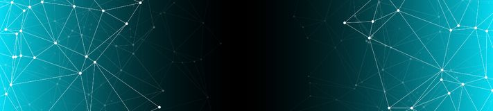 Новый план представления науки медицины, творческие графические предпосылки знамени соединил точки и линии иллюстрацию вектора иллюстрация штока