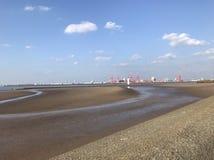 Новый пляж Брайтона стоковое изображение rf