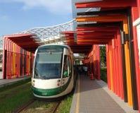 Новый поезд рельса света Kaohsiung Стоковое Изображение RF