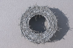 Новый провод колючки Стоковые Изображения