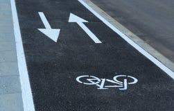 Новый путь велосипеда улицы Софии, Болгарии, SEPT. 18, 2014 Стоковое Изображение