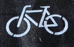 Новый путь велосипеда улицы Софии, Болгарии, SEPT. 18, 2014 Стоковые Изображения RF