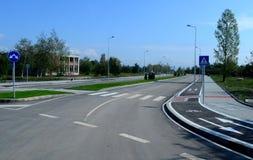 Новый путь велосипеда улицы Софии, Болгарии, SEPT. 18, 2014 Стоковая Фотография