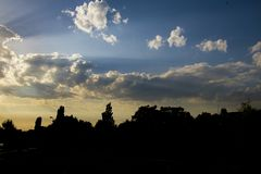 Новый рассвет над городом Стоковое Изображение RF