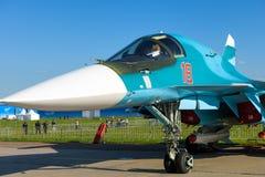 Новый русский истребитель-бомбардировщик Sukhoi Su-34 Стоковое фото RF