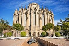 Новый собор, известный touristic ориентир ориентир в Vitoria, Испании Стоковые Фотографии RF