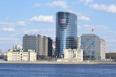 Новый современный деловый центр, StPetersburg Стоковое Изображение