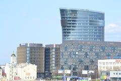 Новый современный деловый центр, StPetersburg Стоковое фото RF