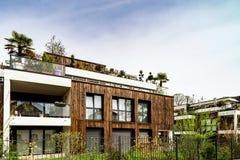 Новый современный жилой дом в страсбурге, Франции Стоковые Фото