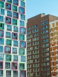 Новый современный низкий комплекс апартаментов подъема moscow Россия Стоковые Фото