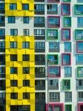 Новый современный низкий комплекс апартаментов подъема moscow Россия Стоковые Фотографии RF