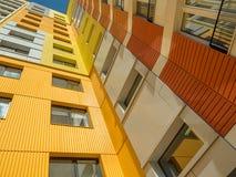 Новый современный низкий комплекс апартаментов подъема moscow Россия Стоковое Изображение RF