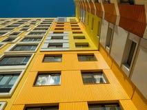 Новый современный низкий комплекс апартаментов подъема moscow Россия Стоковые Изображения RF