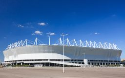 Новый стадион для чемпионата мира 2018 Стоковое Изображение