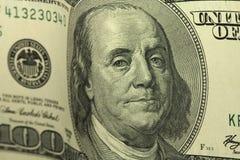Новый счет 100 долларов предпосылки Стоковая Фотография RF