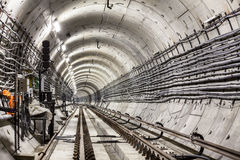 Новый тоннель метро Стоковое фото RF