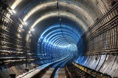 Новый тоннель метро Стоковые Изображения