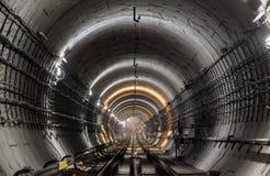 Новый тоннель метро Стоковые Фото