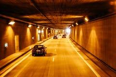 Новый тоннель на дорогах автобана Германии Стоковое фото RF