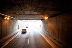 Новый тоннель на дорогах автобана Германии Стоковые Фото