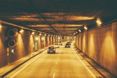 Новый тоннель на дорогах автобана Германии Стоковые Изображения