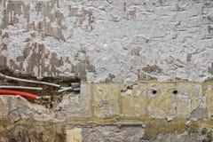 Новый трубопровод воды в стене Стоковое Изображение