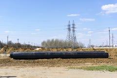 Новый трубопровод пропилена DN 350 стоковые фото
