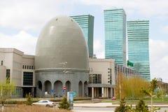 Новый финансовый район в столице Казахстана, Астаны Стоковое Изображение