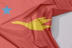 Новый флаг ткани государство-участника понедельника крепирует и залом с белым космосом иллюстрация вектора