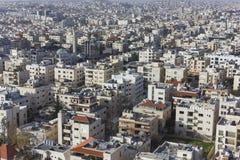 Новый центр города зоны abdali Аммана - вида на город Джордана Аммана современных зданий в Аммане Стоковое фото RF