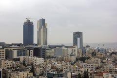 Новый центр города зоны abdali Аммана - вида на город Джордана Аммана современных зданий в Аммане Стоковые Фотографии RF